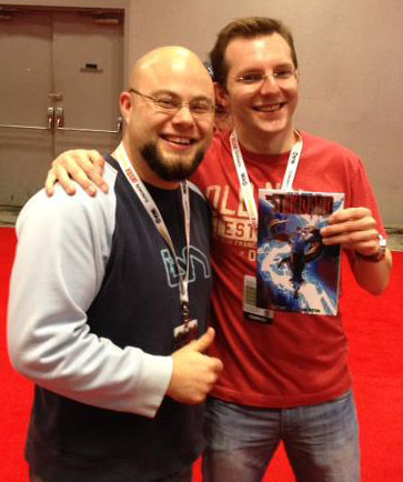 THE STANDARD creators John Lees and Jonathon Rector at New York Comic Con.